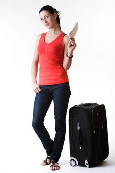Free Young Woman Having Travel Idea Royalty Free Stock Images - 30271209
