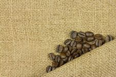 Free Coffee On Sack Stock Images - 30271324