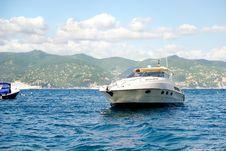Small Yacht In Portofino Stock Photography