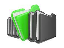 Row Of Folders. Royalty Free Stock Photos