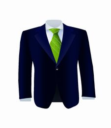 Free Isolated Blue Costume With Green Tie Royalty Free Stock Photos - 30272308
