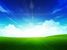 Free Green Field Royalty Free Stock Image - 30272676
