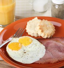 Free Ham And Eggs Royalty Free Stock Photography - 30272767