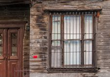 Old Wooden Building Window Stock Image