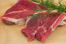 Free Fresh Fillet Of Lamb Ham Stock Photography - 30273162