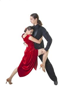 Free Young Couple Dancing Tango Royalty Free Stock Photos - 30276808