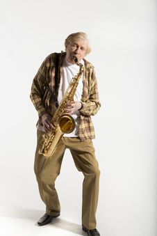Free Old Saxophonists Stock Photos - 30277913