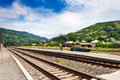 Free Railroad In The Mountains Royalty Free Stock Images - 30280089