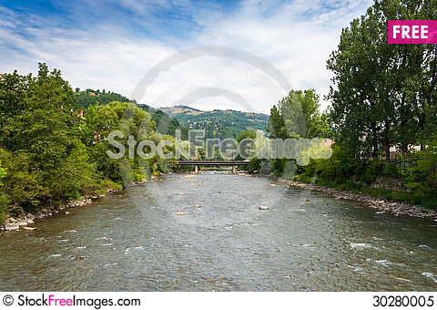 Free River Bridge Royalty Free Stock Photo - 30280005