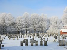 Free Frosty Winter Cemetary Stock Photo - 30281870