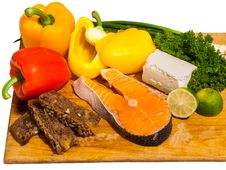 Free Salmon Salad Ingredients Stock Photo - 30281880