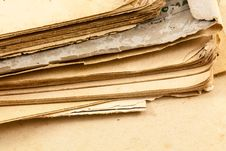 Old Book Pages Royalty Free Stock Photo