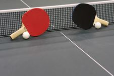 Free Table Tennis Rackets Stock Photos - 30282593