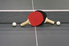 Free Table Tennis Rackets Stock Photo - 30282810