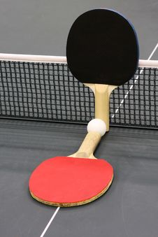 Free Table Tennis Rackets Royalty Free Stock Image - 30282906