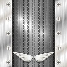 Free Gray Metallic Background With Wings Royalty Free Stock Images - 30283809