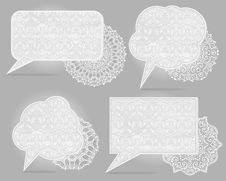 Free Four Vintage Speech Bubbles Stock Photo - 30283820