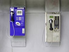 Two Telephone Booths Royalty Free Stock Photos