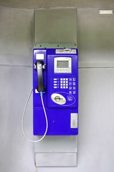 Free Blue Public Phone Stock Images - 30286084