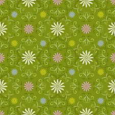 Free Seamless Floral Pattern Royalty Free Stock Photo - 30286855