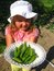 Free The Little Girl With A Plate Of Peas Stock Photo - 30283350