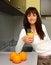 Free Woman Drinking Orange Juice Royalty Free Stock Images - 30288219
