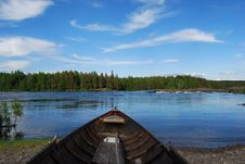 Free Wooden Rowboat Royalty Free Stock Photo - 30292085