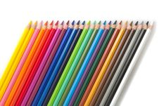 Free Colored Pencils Tilted Stock Photography - 30293912