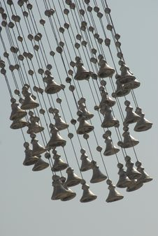 Free Low Angle View Of Hanging Bells With The Sky In The Background Royalty Free Stock Photo - 30294165
