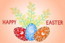 Free Easter Card With The Inscription Royalty Free Stock Images - 30298209