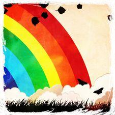 Free Grunge Rainbow Background Stock Photo - 30298810