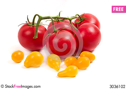 Free Red And Yellow Tomatoes Stock Photography - 3036102