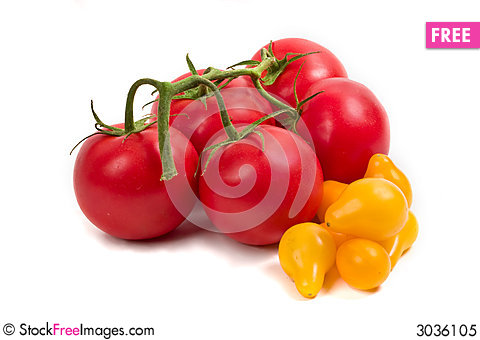 Free Red And Yellow Tomatoes Royalty Free Stock Photo - 3036105