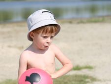 Free The Boy With A Ball Royalty Free Stock Photo - 3030305