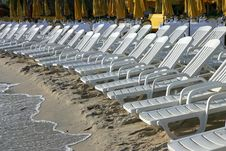 Chairs On The Beach Stock Image