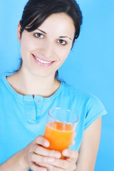 Free Drinking Juice Royalty Free Stock Image - 3030436