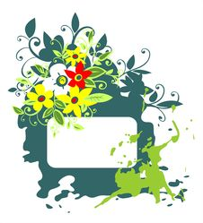 Free Green Grunge Floral Frame Royalty Free Stock Image - 3030486