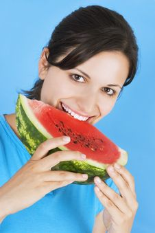 Free Girl With Watermelon Royalty Free Stock Photos - 3030608