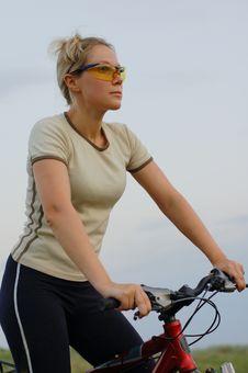 Girl Biking Royalty Free Stock Image