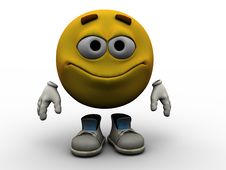Emoticon - Smile Royalty Free Stock Images