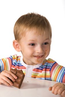 Free The Child With A Chocolate Stock Images - 3032194