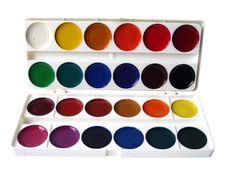 Free Many Paint Jars On White Royalty Free Stock Image - 3032476