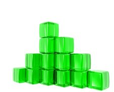 Green Gel Cubes Royalty Free Stock Image