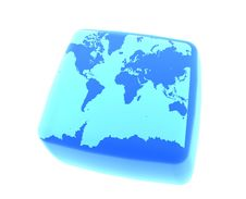Free Earth On Gel Cube Royalty Free Stock Photo - 3032775