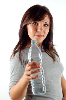 Free Woman With Bottle Of Water Stock Photo - 3032960