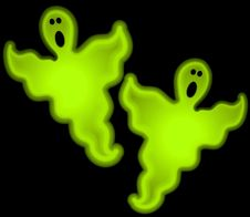 Free Halloween Glow Ghosts Clip Art Royalty Free Stock Photography - 3033607