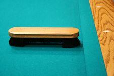 Pool Table Brush Stock Photo