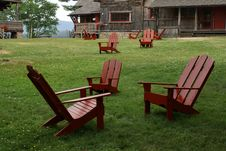 Free Adirondack Style Chair Stock Photography - 3033672