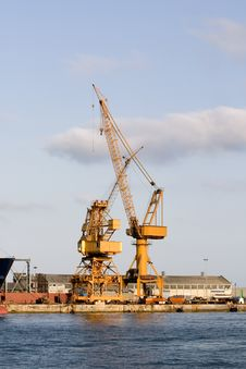 Free Port Cranes Stock Photography - 3033792