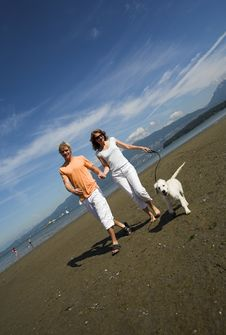 Free Young Couple On The Beach Royalty Free Stock Photos - 3034348